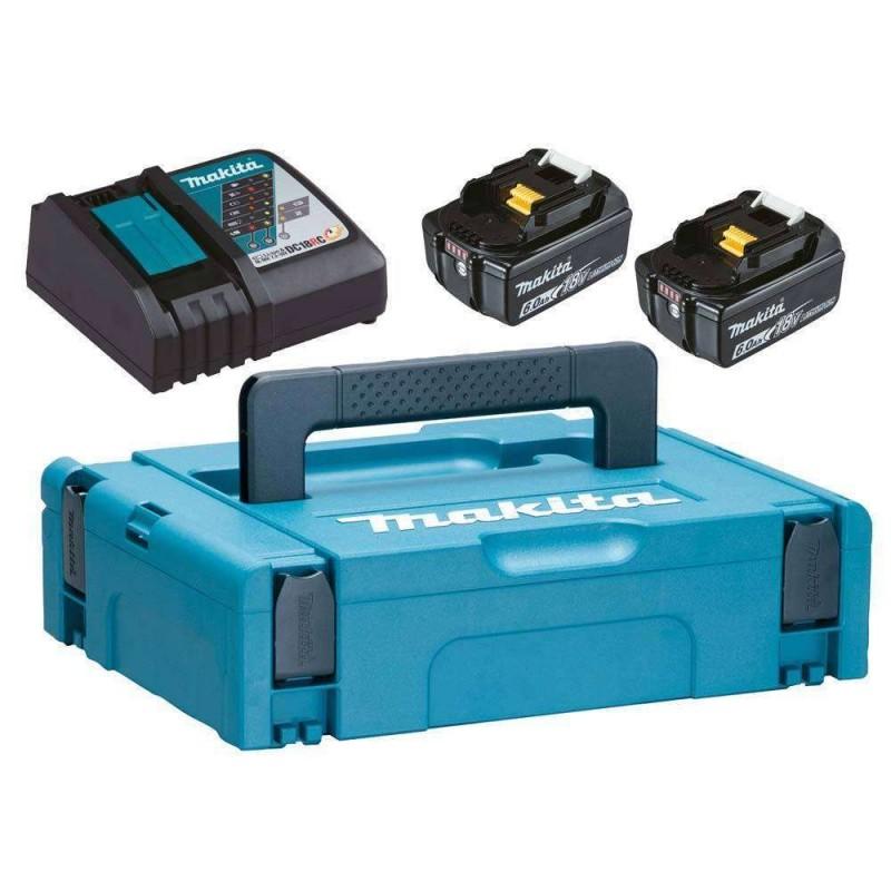 Pachet acumulatori si incarcator Makita in cutie Makpac BL1860B si DC18RC