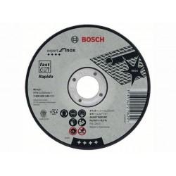 Disc abraziv 125x1.6 mm, Bosch X-Lock, debitare inox