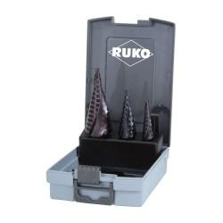 Set burghie in trepte Ruko HSS-TiAIN 0/9,1,2