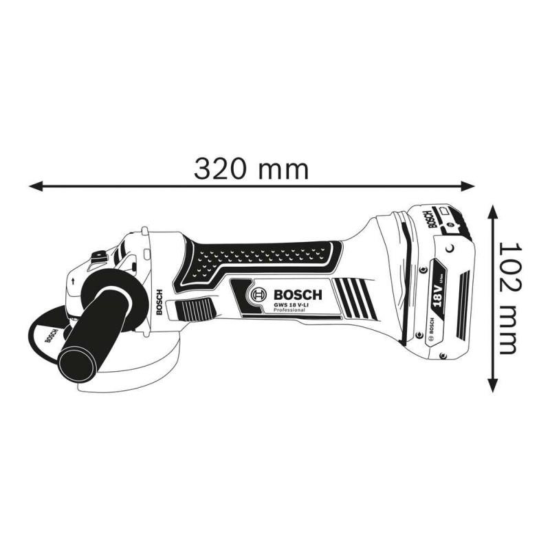 Polizor unghiular Bosch compatibil cu acumulator  GWS 18 V-LI